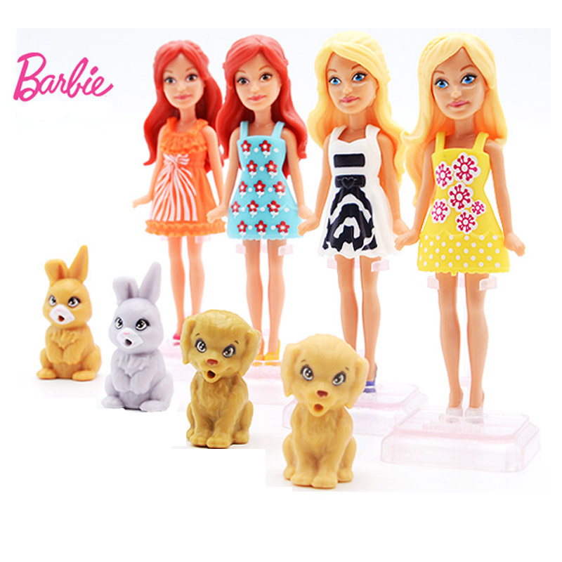 Original Barbie 12cm Doll Zodiac Birthday Series 1 Pcs S Dog Pet  Baby Toys with Dress Clothes American Boneca Juguetes art