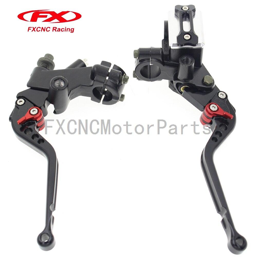 For KTM RC125/125 Duke 125-300CC Black Motorcycle 7/8 22mm Brake Master Cylinder Reservoir Levers Clutch Set 125