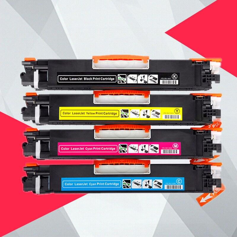 4PK Compatible CF350A CF351A CF352A CF353A 130A Color Toner Cartridge for hp LaserJet Pro MFP M176n