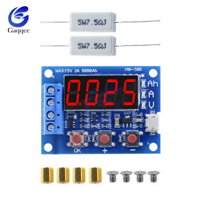 HW-586 1.2v 12v 18650 Li-ion Lithium Battery Capacity Tester Resistance Lead-acid Battery Capacity Meter Discharge Tester(China)