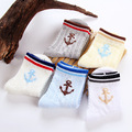 Venta caliente Unisex sólido 5 Par/lote Recién Nacidos Del Bebé Calcetines Infantiles del Algodón Toddle Muchacho Corto Calcetines para 2-8 años