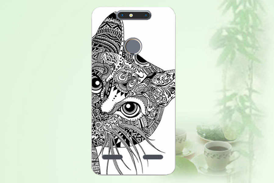 Soft Tpu Cover for ZTE Blade V8 Mini Case Printing Cool Tiger Owl Rose Phone Cases for ZTE V8 Mini Cover V8Mini 5.0 Inch  Sheer
