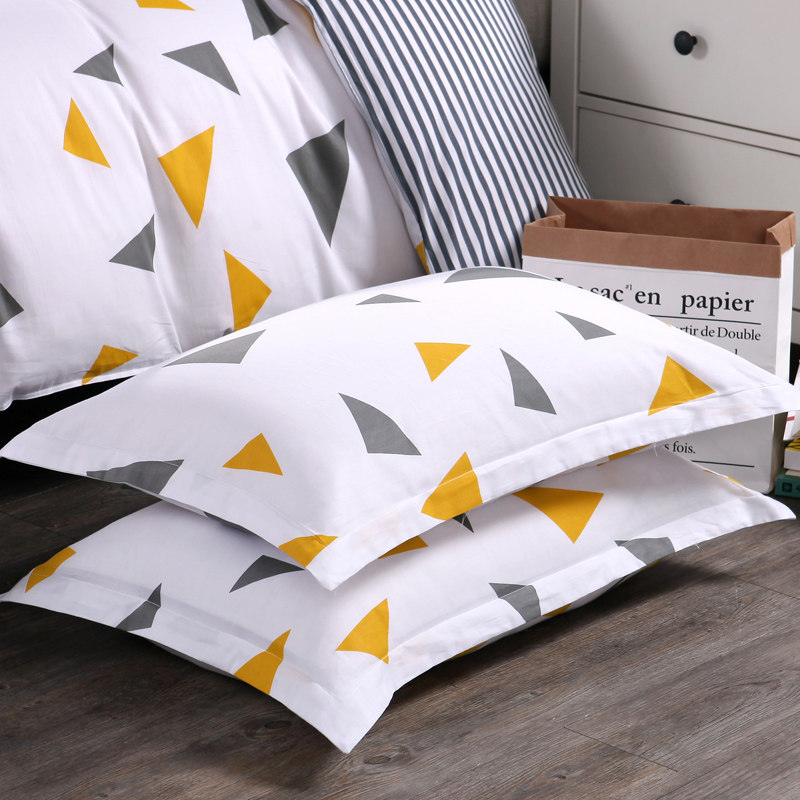 1 Pair Cotton Fabric Home Hotel Bedding Set Pillowcase Soft Strip Pattern Adult Pillow Cover Wholesale