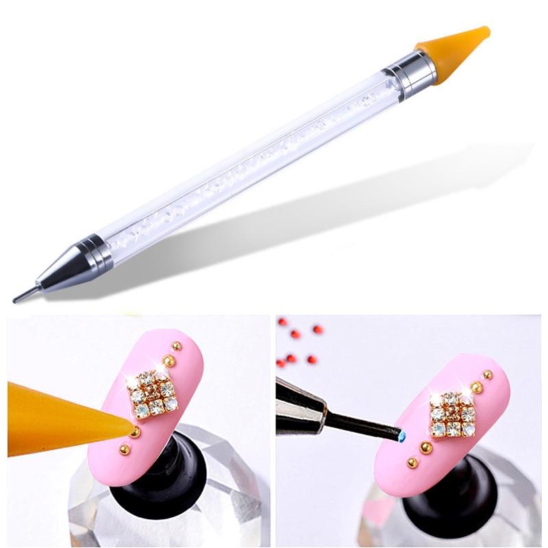 High Quality Crystal Pick Up Pencil Flatback Rhinestones Picking Up Tools DIY Beads Studs Picker Clothes Diamond Picker B1145