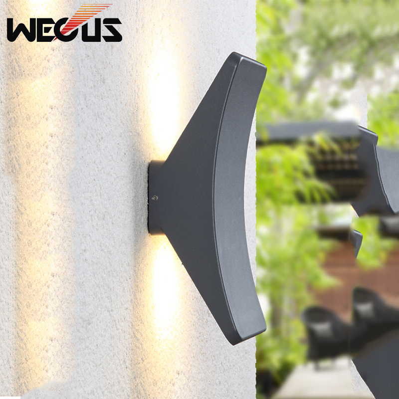 LED Outdoor modern wall lamp double up and down wall lighting step corridor buitenlamp street garden fence parking lot lighting все цены