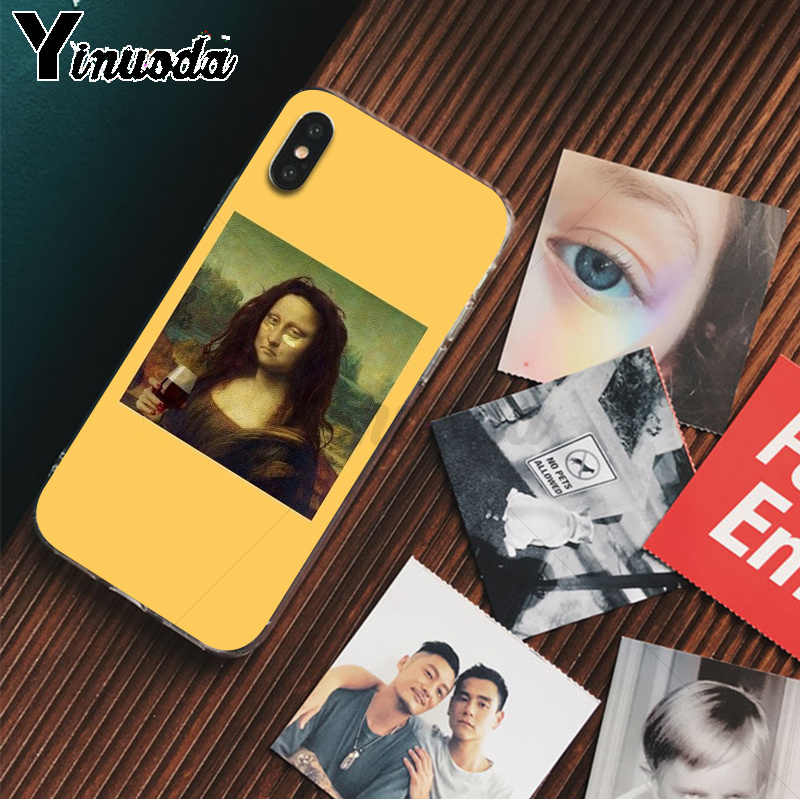 Yinuoda Great art aesthetic van Gogh Mona Lisa David TPU Phone Case for iPhone 8 7 6 6S Plus 5 5S SE XR X XS MAX