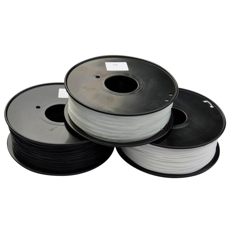3d filamento impressora de PA (Nylon) 1.75mm/3mm 1 kg/2.2lb plástico Borracha Consumíveis Material MakerBot/RepRap/UP/Mendel