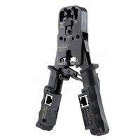 2 in 1 Network Cable Stripper Crimp Tool Tester LAN Ethernet RJ45/RJ11/RJ9 6P DEC 4P 8P Crimping Pliers Removable Cutting Pliers