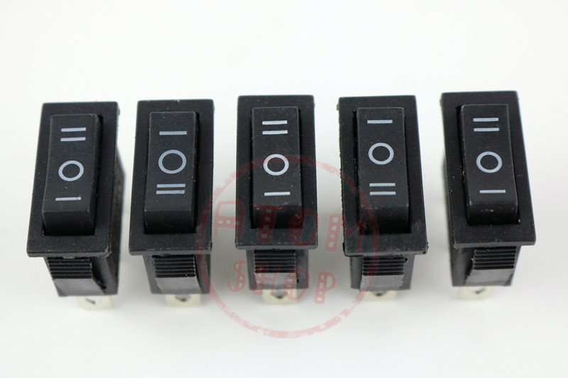 5 pcs x AC 15A 250V /20A 125V 3 Pin SPDT KCD3 ON-OFF-ON 3 Position Boat Rocker Switch black 5 pcs ac 6a 250v 10a 125v 3 pin black button on on round boat rocker switch