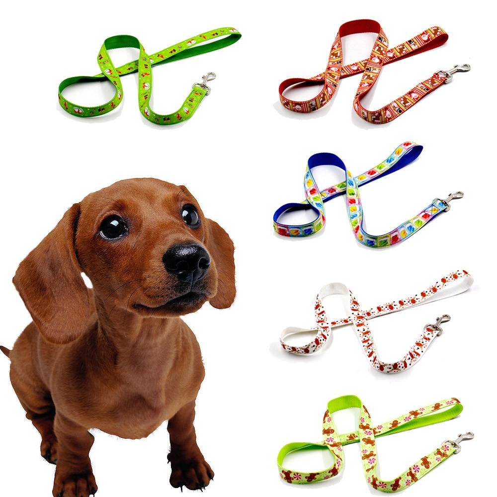 Quick release nylon <font><b>dog</b></font> leash the New Cute Cartoon Christmas Pet <font><b>Dog</b></font> Traction Rope Traction Rope Leash for <font><b>gods</b></font> all seasons