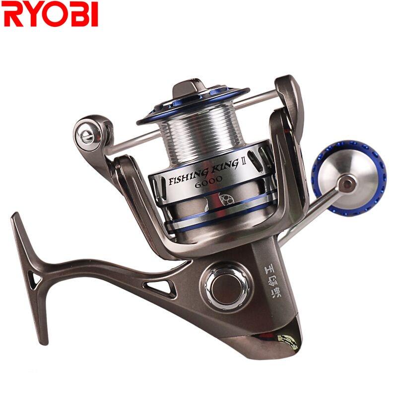 RYOBI 6000/8000 Spinning Fishing Reel 5.0:1/6+1BB CNC Hanle Molinete Para Pesca Fishing Reels Moulinet Peche Olta Zew AP POWER