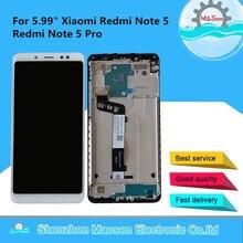 """5.99 """"الأصلي م & سين ل شاومي Redmi نوت 5 Redmi نوت 5 برو شاشة LCD عرض مع الإطار لوحة شاشة لمس محول الأرقام"""