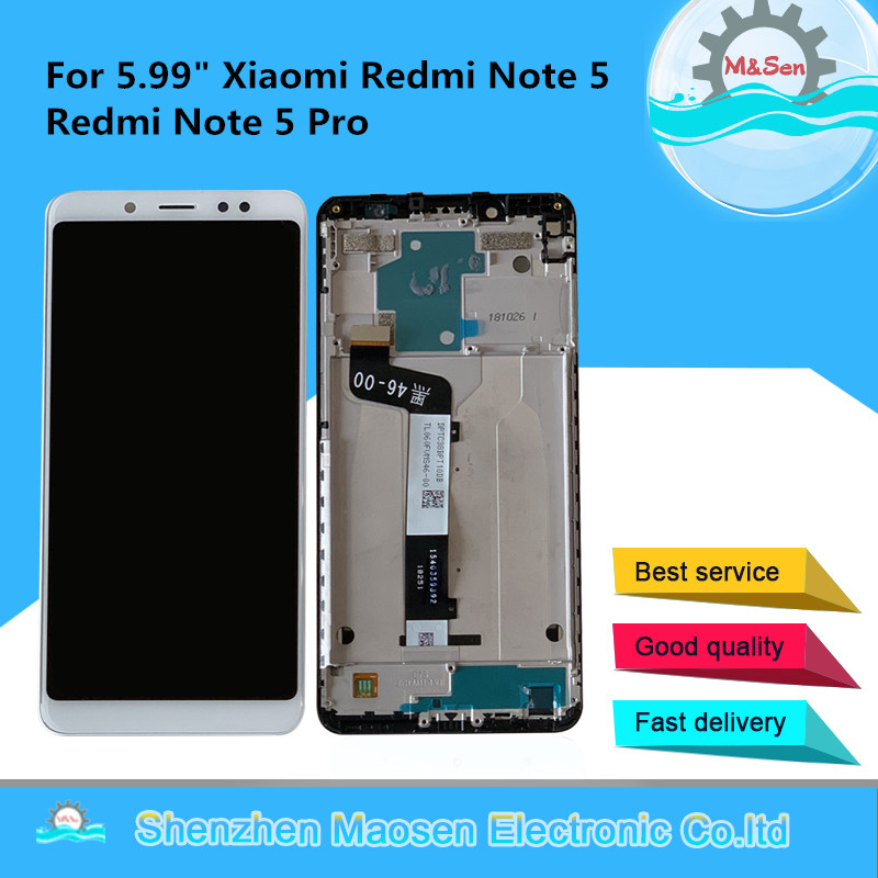 Original M&Sen For 5.99 Xiaomi Redmi Note 5 Redmi Note 5 Pro LCD Screen Display With Frame+Touch Screen Panel Digitizer