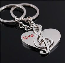 Novelty Creative Couple Keychain Lovers Heart Key Chain Ring Casual Trinket Valentine's Day Wedding Anniversary Gift Souvenir(China)
