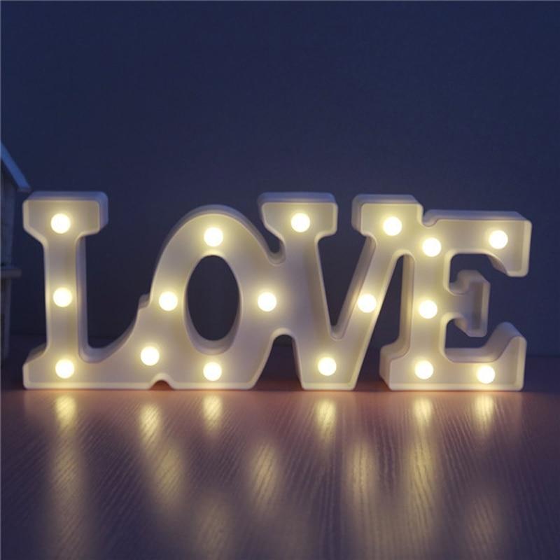 Luzes da Noite sinal do amor 3d figura Function 3 : Stage Lighting Effect/wedding Decor/house Decoration