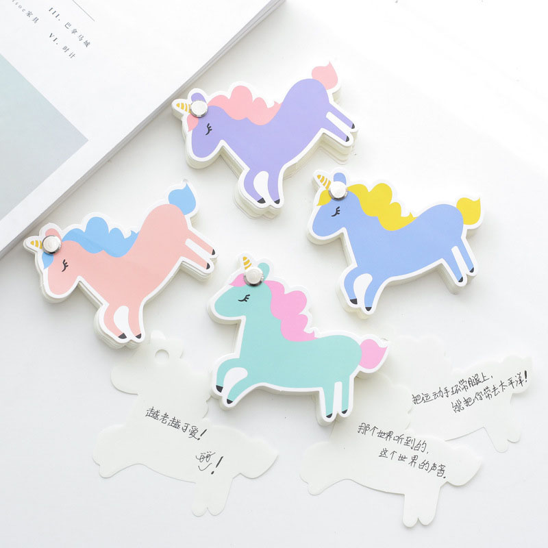 Kawaii Unicorn Paper Memo Pad Planner Notepads Creative Cactus Post It Note Writing Pads Cute Stationery Office School Supplies