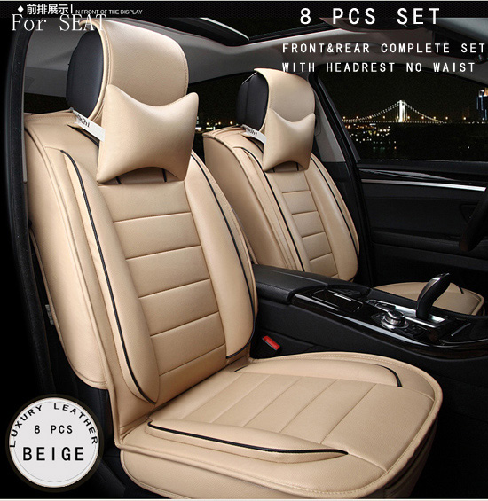 OUZHI  SEAT LEON Ibiza EXEO red and black brown brand designer luxury pu leather front&rear full car seat covers four season