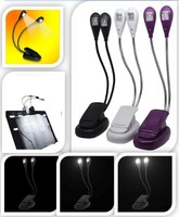 Book Light Recharge Booklight Led Ebook Mini Flexible Bright Clip Reader Reading Lamp Kindle Nook 2Arm
