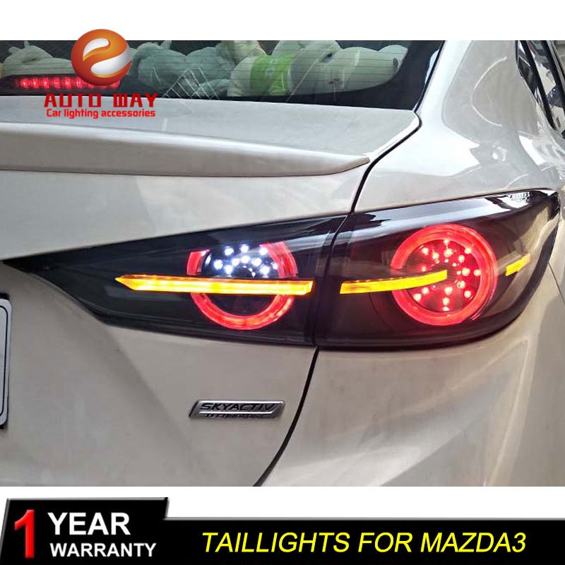 Car Styling Case for <font><b>Mazda</b></font> <font><b>3</b></font> Mazda3 Axela M3 2014-2018 Taillights Tail lights Mazda3 <font><b>LED</b></font> taillight Tail <font><b>Lamp</b></font> Rear <font><b>Lamp</b></font> image