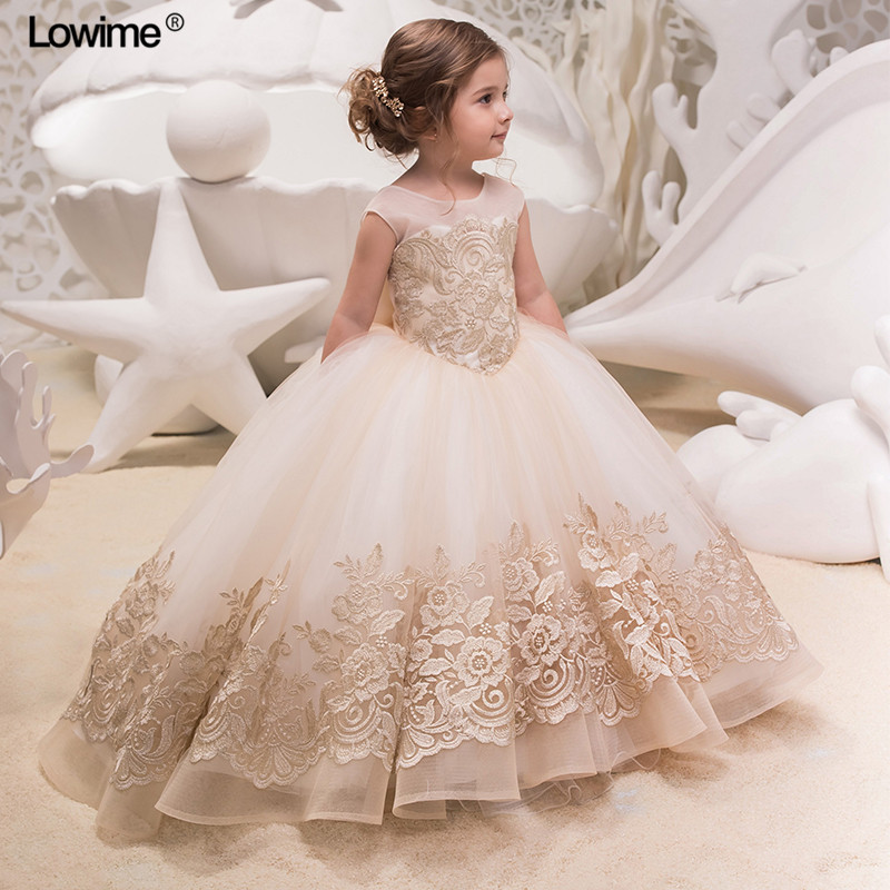 Empire First Communion Dress For Girls Scoop Cap Sleeves ...