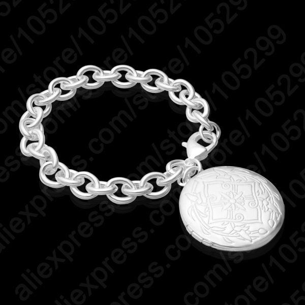 High Quality Vintage Jewelry Gift Open Box Photos 925 Sterling Silver Bracelet For Woman Wedding Lover Free Shipping image