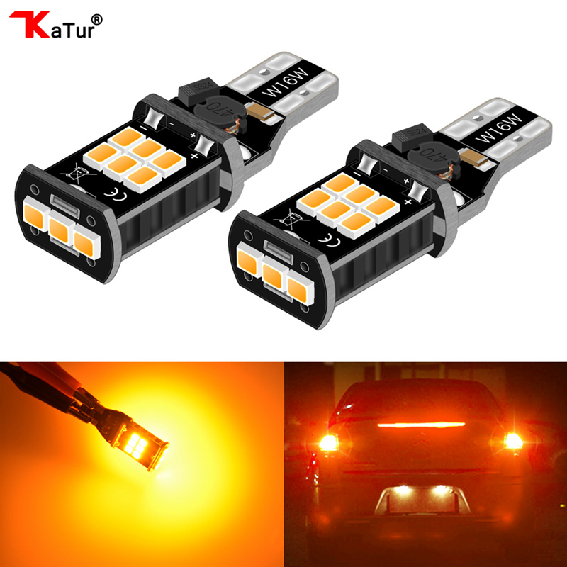 2pcs 12V 24V Canbus 921 912 T15 No Polarity T16 Bulb Light Parking Backup Reverse Led
