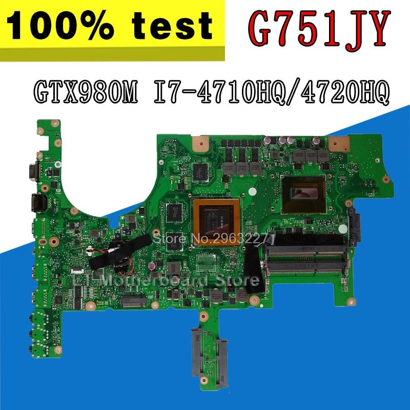 G751JY GTX 980 M/4 GB/I7-/4710HQ/4720HQ Ordinateur Portable carte mère pour asus ROG G751 G751J G751JY g751JT G751JS Notebook Carte Mère Rev 2.0