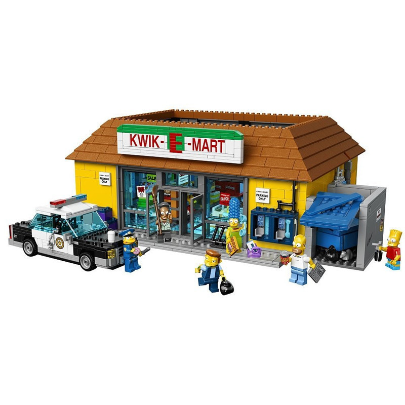 Diy Compatible With playmobil 71006 Movie Series Simpsons House Model Building Block Bricks Kit Educational Toys Brithday gifts