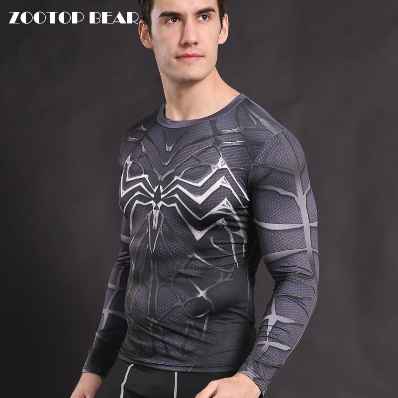 Venom camisetas hombre Armor Spiderman camiseta compresión medias camisa  Crossfit ropa Fitness Top hombre Tessa Elastic ZOOTOP oso en Camisetas de  La ropa ... a5588bddd7624