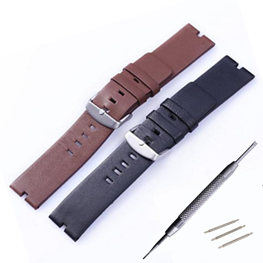 22mm New Mens Genuine Leather Watchbands Bracelet for Moto 360 Smart Watch Band Moto360 Spring Bar Tool in Watchbands from Watches
