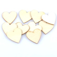 50pcs 30mm Wooden Heart For Wedding Party Favor Baby Shower Decor Scrapbooking DIY Table DIY Crafts Christmas Decoration mt1655