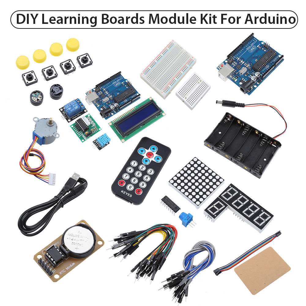 Keyes ATmega328P LCD1602 buzzer Learning Boards Kit For Arduino Part Set High Quality Free Shipping keyes analog temperature sensor for arduino red white