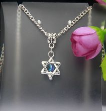 2015 Hot Vintage Silver Star of David&Evil Eye Charm Pendants Necklace Fashion Jewelry Findings Accessories For Woman 10PCS F906