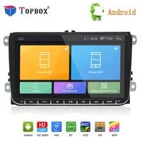 Topbox Android 8,1 автомобильное радио gps навигации 9 ''авто для Skoda Golf 5 Golf 6 POLO PASSAT B5 B6 TIGUAN DVD плеер BT, RDS