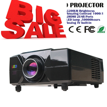Free shipping !!Factory Wholesale TV LED projector HD projector support 1080P resolution  big screen