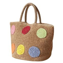 New Portable Straw Bag Fashion Large Capacity Woven Shoulder Bags Single Beach Bag Female Big Handbag