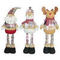 New Style Santa Claus Snow Man Reindeer Doll Christmas Decoration Xmas Tree Ornaments Pendant Hanging For