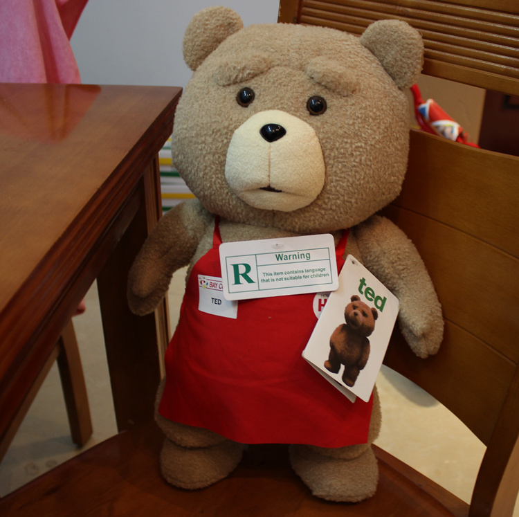 Toys For Ted : Teddy bear ted plush toys with music in apron cm