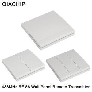 Image 1 - QIACHIP 86 קיר פנל מתג 1CH 2CH 3CH משלוח דביק קיר פנל שלט רחוק דביק כל שבו משדר 1 2 3 כפתור לקבל