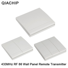 QIACHIP Interruptor de Panel de pared 86, 1CH, 2 canales, 3 canales, Control remoto, receptor de 1, 2 y 3 botones