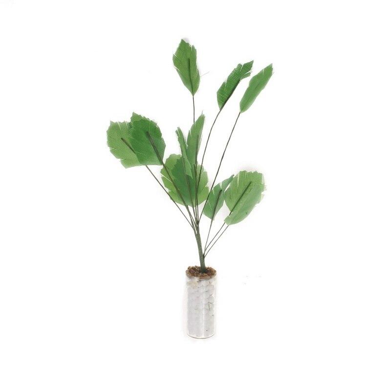 1/12 Dollhouse Miniature Accessory Garden Green Plant Pachira Macrocarpa Tree Bonsai Model Interior Decoration