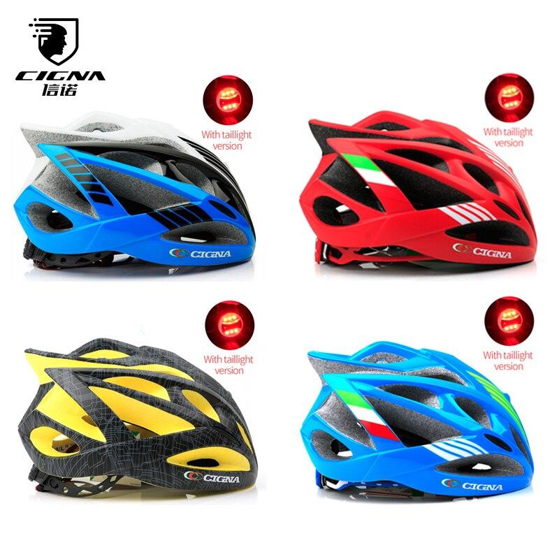 CIGNA Bike Ultralight Helmet With Light Intergrally-molded Mountain Road  Bicycle MTB Helmet Safe Cycling Helmet For Men Women 3ec1b9288