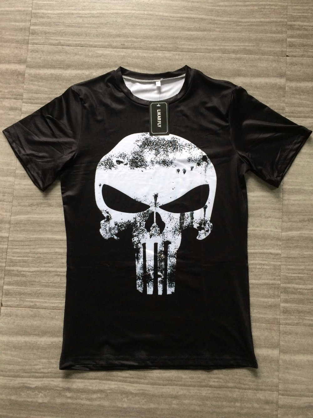 Punisher 3D Printed T-shirts Men Compression Shirts Long Sleeve Cosplay Costume crossfit fitness Clothing Tops Male Black Friday 29