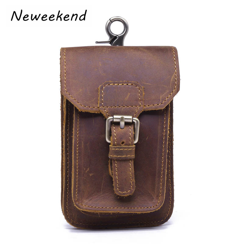 Belt Bag Men's Waist Bag Fanny Genuine Leather Pack Bum Hip Phone Money Card Cigarette Pouch Purse Vintage Leg Drop Bag Travel