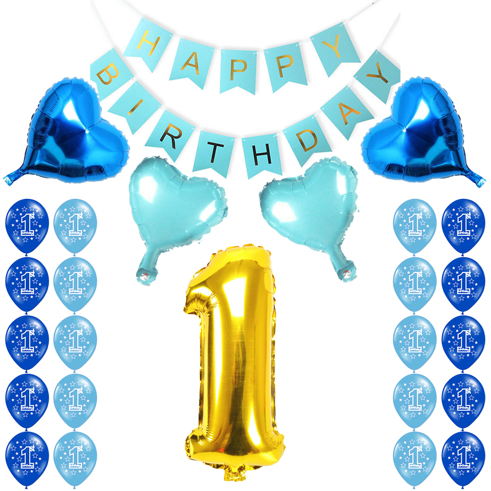 Dropwow Amawill 1 Year Old Birthday Party Decorations Baby Boy Girl
