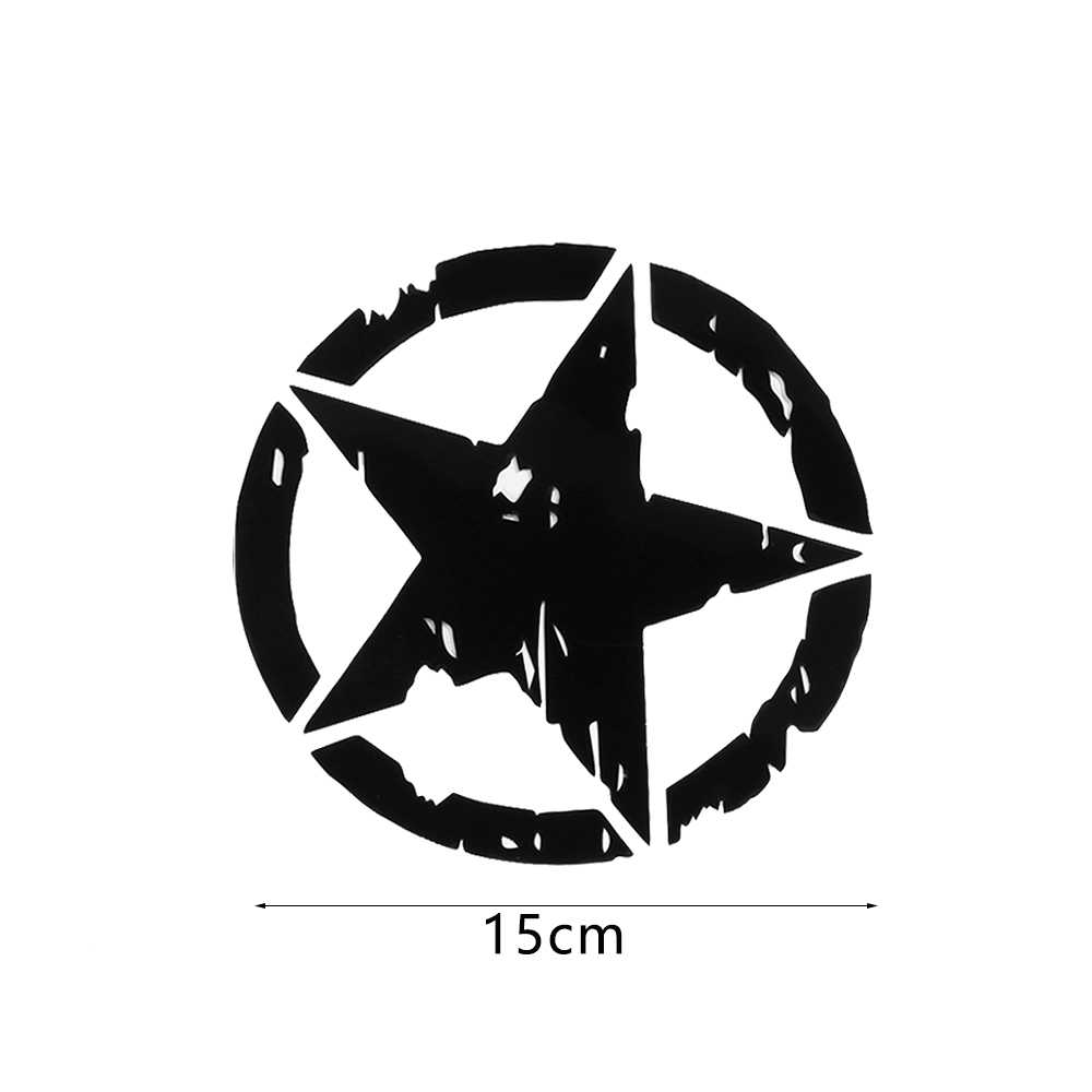 1pcs car stickers 15cm15cm army star graphic decals motorcycle car body window stickers