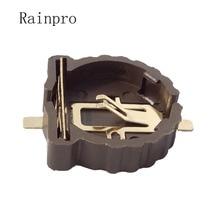 Rainpro 10 TEILE/LOS BS 1220 2 CR1220 CR1225 3V knopf batterie halter SMD paket vergoldung