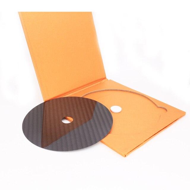 الشحن مجانا مرحبا نهاية 0.2 ملليمتر ألياف الكربون cd مشغل dvd مثبت حصيرة أعلى الدرج الدوار