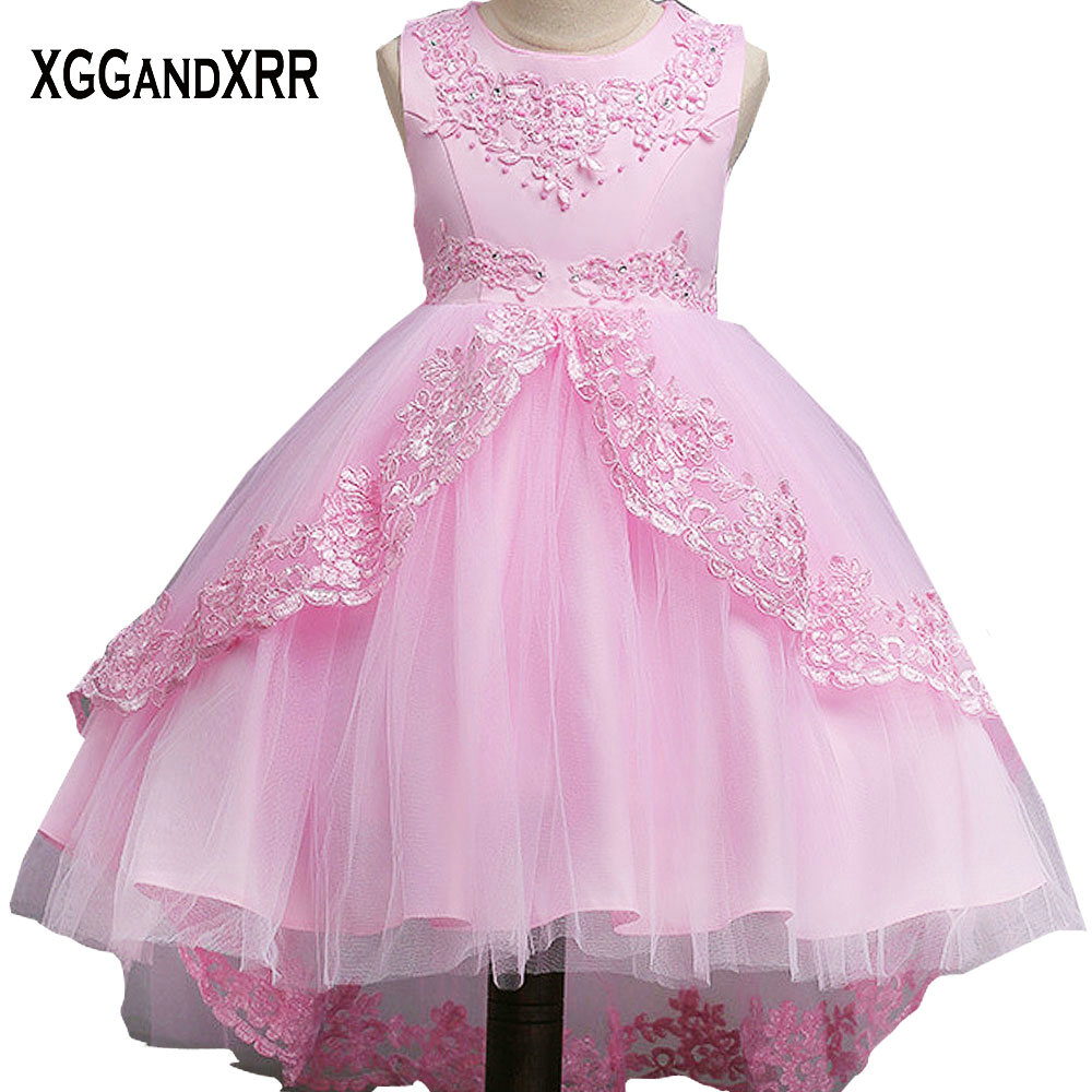 New Arrival Tulle Ball Gown Flower Girl Dresses 2018 Scoop Appliques ...