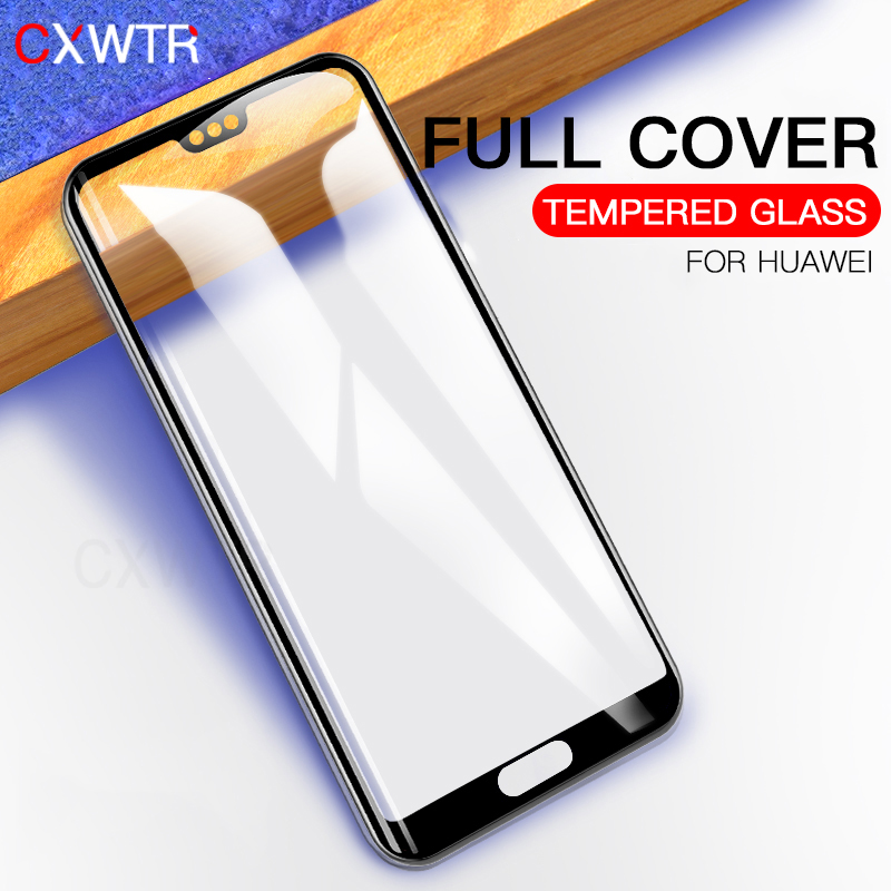Galleria fotografica 9H Tempered Glass For Huawei P20 Pro P20 Lite 3D Full Cover Screen Protector Film For Huawei Honor 10 9 Lite 2017 Glass